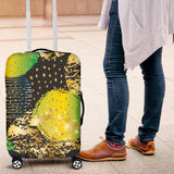 Energizing Neon Dots Luggage Cover