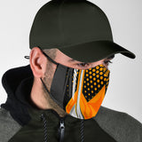 Racing Cosmic Style Black & Orange Protection Face Mask