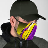 Racing Yellow & Violet Two Special Design Protection Face Mask