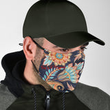Paisley Floral Design 2 With Dark Blue Protection Face Mask