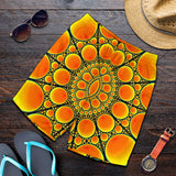 Neon Orange Sun Men's Shorts