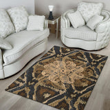 Snake Pattern With Lace Mandala Area Rug