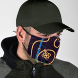 Luxury Gold Chains on Black Design Protection Face Mask