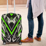 Racing Style Neon Green & Grey Vibes Luggage Cover