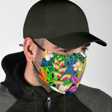 Tropical Wild Colorful Flowers Design Protection Face Mask