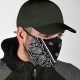 Luxury Perfect Black and White Bandana Style Protection Face Mask