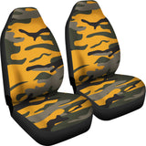 Orange Camouflage Car Seat Cover