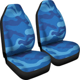 Blue Army Love Car Seat Cover