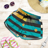 Luxury Neon Strips Women's Shorts