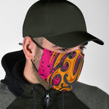 Racing Style Pink & Orange Design Protection Face Mask