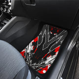 Racing Style Wild Red & Grey Stripes Vibes Front Car Mats
