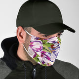 Violet & Pink Art Flowers Design Style Protection Face Mask