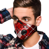 Amazing Luxury Dark Red Tartan Premium Protection Face Mask