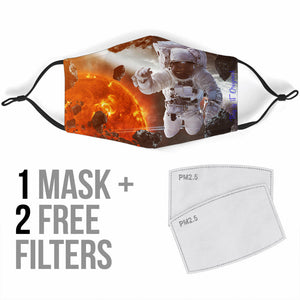 Astronaut & The Sun Protection Face Mask