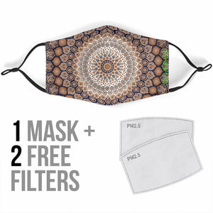 Luxury Exclusive Ornamental Mandala Design One Protection Face Mask