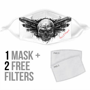 Drawn Skull Head Protection Face Mask