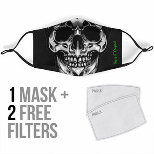 Silver Skull Smile One Protection Face Mask
