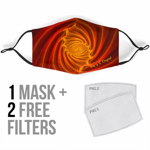 Abstract Colorful Spiral 2 Vibe Protection Face Mask
