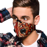 Special Fire Red Mosaic Mandala Vibes Premium Protection Face Mask