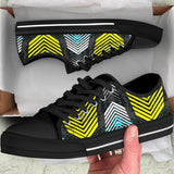Racing Style Blue & Yellow Stripes Vibes Low Top Shoe