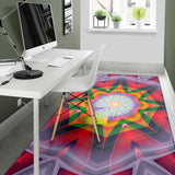 Psychedelic Style Mandala Design Two Area Rug