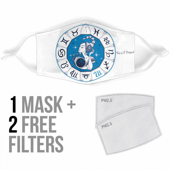 Special Zodiac Sign Design Scorpio Protection Face Mask
