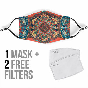 Beautiful Vibes Mandala Four Protection Face Mask