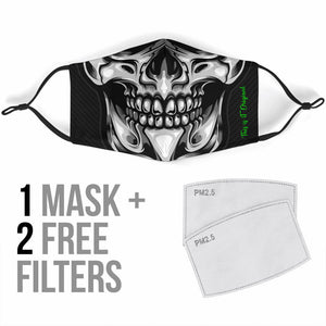 Silver Skull Smile Two Protection Face Mask
