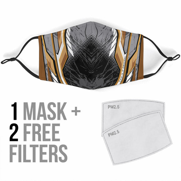 Racing Black & Grey Special Design Protection Face Mask