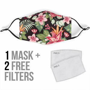 Tropical Floral Design Art One Protection Face Mask