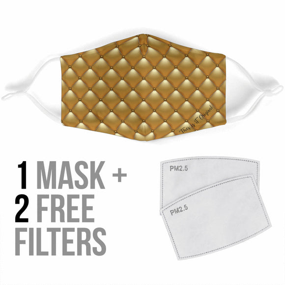 Luxury Golden Lovely Style Design Protection Face Mask