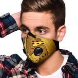Bubble Black Marble Design With Gold Premium Protection Face Mask