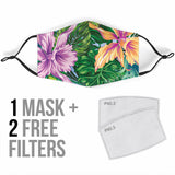 Tropical Flowers Vibes Protection Face Mask