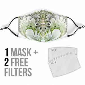 Designer White Feathers Protection Face Mask