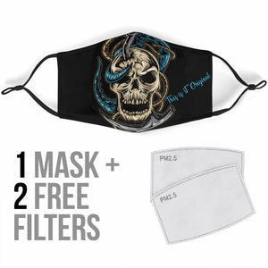 Skull & Octopus Modern Art Protection Face Mask