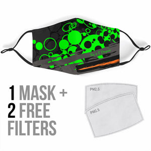 Special Camouflage Neon Bubble Design Protection Face Mask