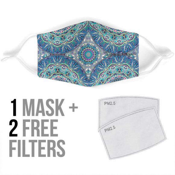 Most Beautiful Mandala Two Protection Face Mask