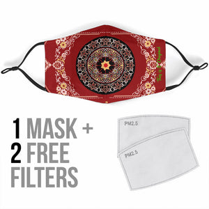 Luxury Exclusive Ornamental Mandala Design Four Protection Face Mask