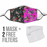 Tattoo Studio Design in Black & Pink Protection Face Mask