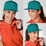 Luxury Light Green Bandana Style Paisley Design Snapback Hat
