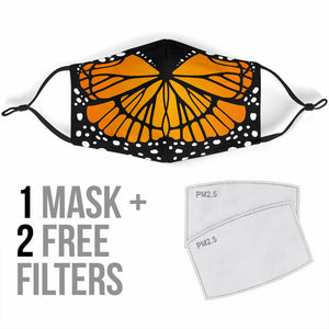 Cute Orange Butterfly Protection Face Mask