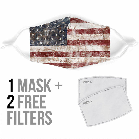 American Old School Flag Design Protection Face Mask