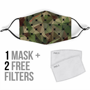 Luxury Green Army Style Protection Face Mask