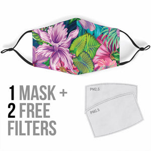Tropical Flowers Vibes 4 Protection Face Mask