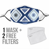 Classic Ornamental Vibes Four Protection Face Mask