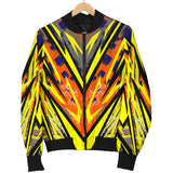 Racing Style Funky Yellow & Colorful Vibes Women's Bomber Jacket