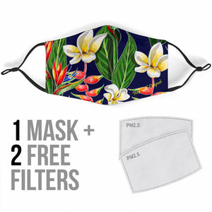 Colorful Floral Art Design Protection Face Mask