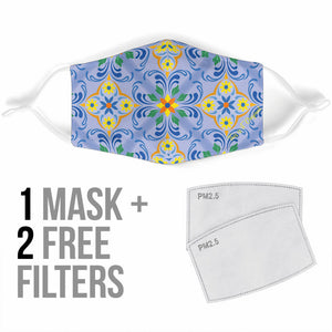 Classic Luxury Ornamental Design One Protection Face Mask