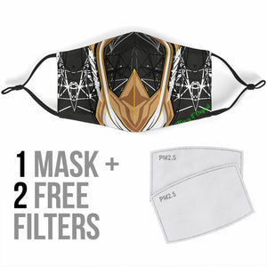 Racing Cosmic Style Black & Brown Protection Face Mask