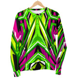 Racing Style Neon Green & Pink Vibes Women's Sweater